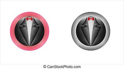 Button_Tailcoat and red bow tie