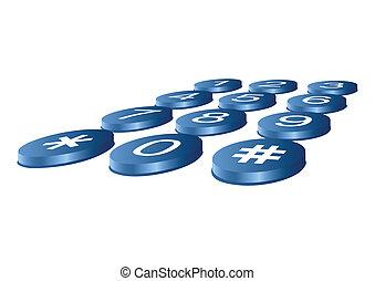 buttons., ラウンド, 電話