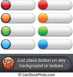 buttons., 円形にされる, グロッシー