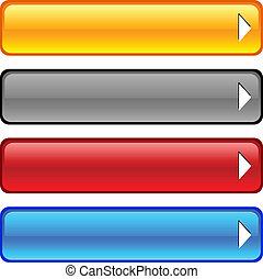 buttons., 有光泽