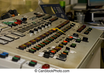 Buttons and Dials at an industrial facility