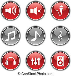 buttons., audio