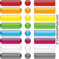 buttons., bolha, em branco