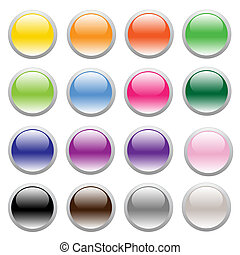 Buttons - Button-Computer button-Plastic-Glass-Illustration