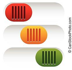 button(s), dostarczcie energii elektrycznej standby, -, 3, pikolak, suwak, stan, od