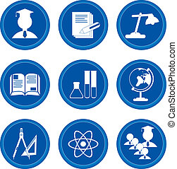 Buttons. Education - Set of buttons for web design. ...