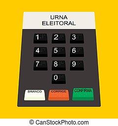 Buttons electoral Electoral ballot box. vector or fully ...
