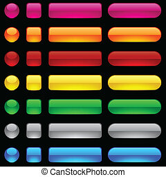 buttons., em branco