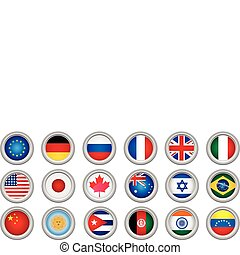 Buttons Flags