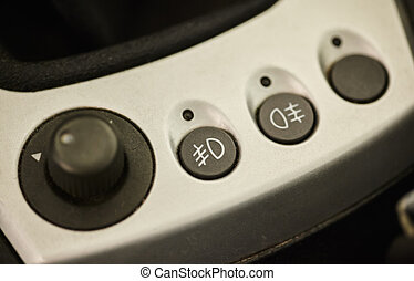 Buttons for fog lights