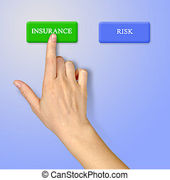 Buttons for insurance and risk
