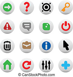 Buttons for interface - Set of icons for computer program ...