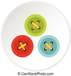 Buttons for sewing icon circle