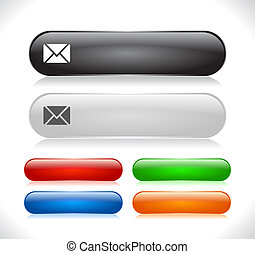 Buttons for web. Vector illustration