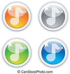 buttons., geluid