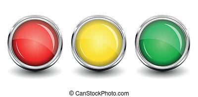 buttons., glänzend