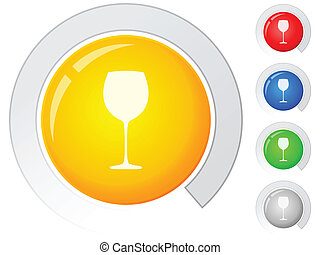 buttons glass