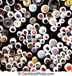 buttons haberdashery many various styles