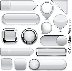 buttons., high-detailed, moderno, gris