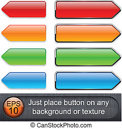 buttons., high-detailed, modernos