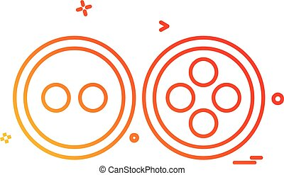 Buttons icon design vector