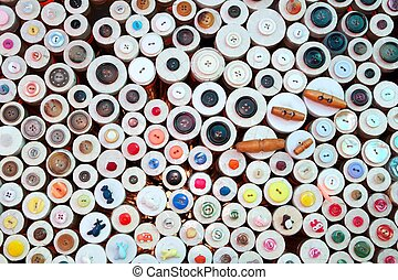 buttons in haberdashery retail shop colorful pattern...