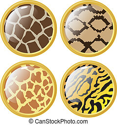 buttons in style of animal texture