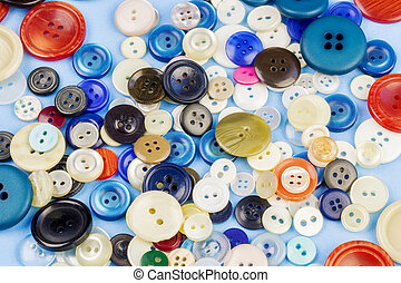 Buttons in various colors