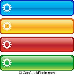 buttons., instellingen