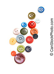 Buttons isolated on the white background