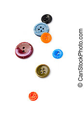 Buttons isolated on white