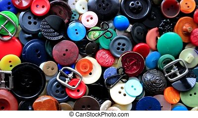 Buttons of different colors - Long ago they decorated...