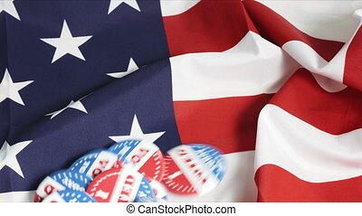 Buttons of I Voted Today on US flag - Buttons of I Voted ...