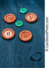 buttons on blue background
