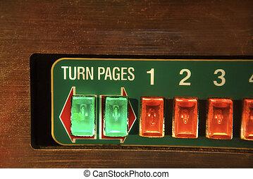 buttons., pénzbedobós gramofon automata