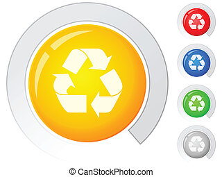 buttons recycle symbol