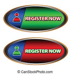 Buttons register now on a white background