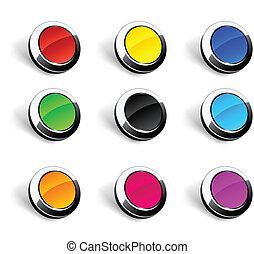 buttons., rond, 3d