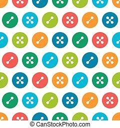Buttons seamless pattern