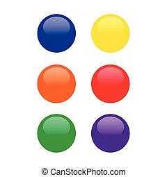 buttons set vector