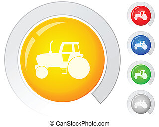 buttons tractor