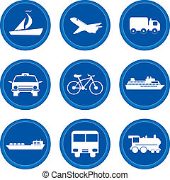 Buttons. Transport concept - Set of buttons for web design....