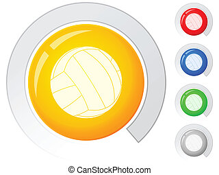buttons volleyball
