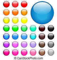buttons, web, круглый