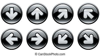 buttons with arrows