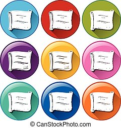Buttons with certificates