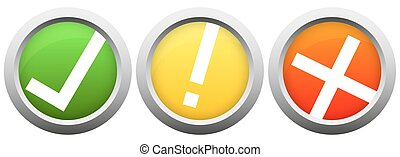 buttons with check mark and cross