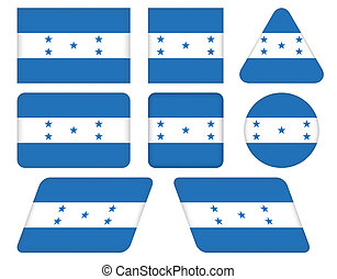 buttons with flag of Honduras