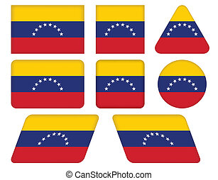 buttons with flag of Venezuela