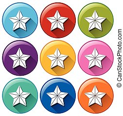 Buttons with stars